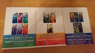Final Fantasy 25th Memorial Ultimania Volume 1,2,3 - Square Enix.