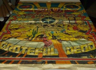 Grateful Dead vintage rare/authentic silk tapestry 1984/1985 (lot of 3)