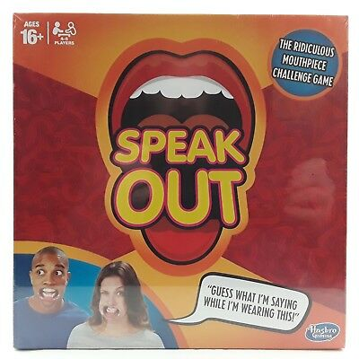 Speak Out Family Party Board Game Mouthpiece Challenge Hasbro Brand New & Sealed