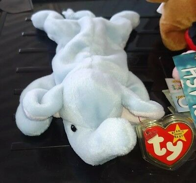 c7cf3f10395 PEANUT RARE LIGHT Blue Ty Beanie Baby Rare Errors Mint -  15.99 ...