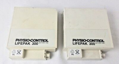 2 Medtronic Physio Control Lifepak 300 Battery 804901-05 Untested
