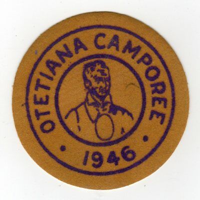 Boy Scout 1946 Otetiana Council Camporee Patch, NY