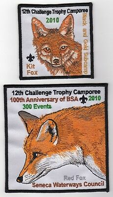Boy Scout 2010 12th CTC patches Kit Fox & Red Fox Seneca Waterways Council, NY