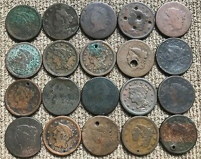 20 Cull and Dateless Large Cents - Lot 2