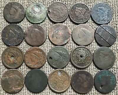 20 Cull and Dateless Large Cents - Lot 3