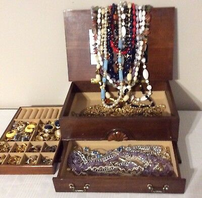 Vintage Lot of Jewelry Necklaces Earrings Various Designs Materials