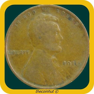 Lincoln Cent Wheat Penny 1910 P US Coins Coinhut2962