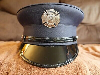 Fire Dept. Dress Hat with Pin Badge.
