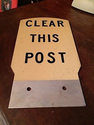 Vintage Railroad Sign Double Sided Clear This Post