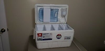 Portable  utensil hand washing station for camping, boating  or vending 4 sink.