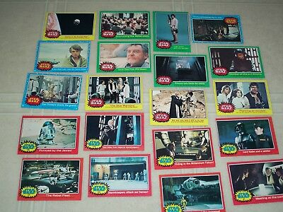 Lot of 76 Mixed Star Wars Cards 1977