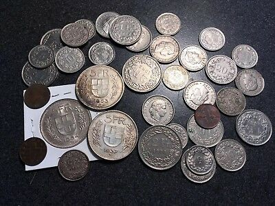 Group Of 36 Swiss Coins - Switzerland