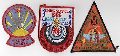 Boy Scout OA (3) different event patches Lodge 383, Lodge 484 & Unknown Lodge