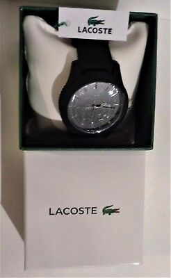 BRAND NEW Lacoste Men's 2010766 Lacoste.12.12 Black Watch with Textured Band
