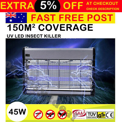 55W Insect Killer Mosquito Pest Fly Bug Zapper Catcher Trap Electric UV-A Alloy