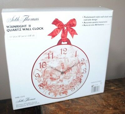 Seth Thomas Quartz Wall Clock Pocketwatch Style Rooster Design