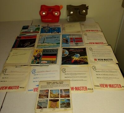 Lot Of 38 Vintage View-Master Reels Most With Booklets And 2 View-Masters VGC