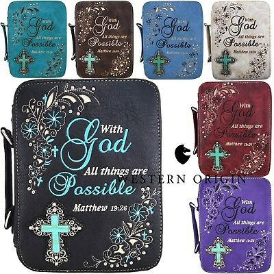 28f7754893e1 WESTERN STYLE EMBROIDERED Bible Verse Scripture Women Country Bible ...