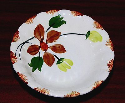 "Blue Ridge Southern Potteries inc. USA Hand Painted 6"" Bowl Floral"