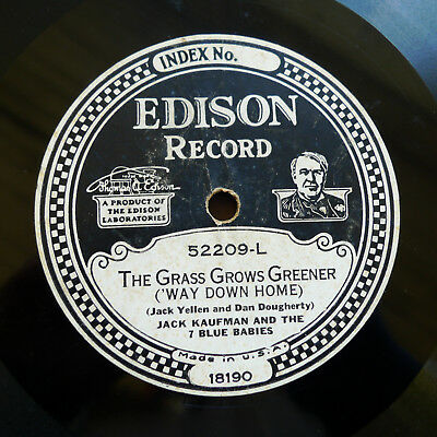 52209 Jack Kaufman 7 Blue Babies Grass Grows Greener Edison Diamond Disc record