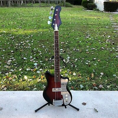 Vintage MIJ Teisco 4-String Short Scale Electric Bass Guitar