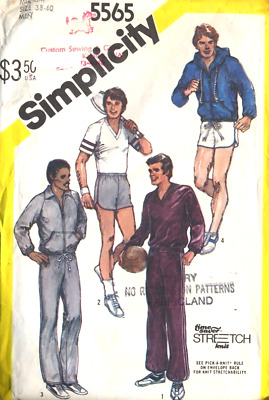 Simplicity 5565 Men's Pants, Shorts Top and unlined Jacket Size 38-40