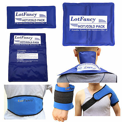 Reusable Hot Cold Gel Ice Pack Heat Therapy Wrap Back Pain Relief First Aid Kit