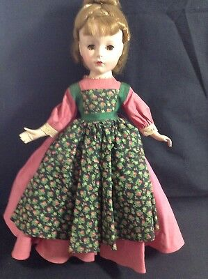 "Meg Little Women Doll Vintage Madame Alexander 14"" 1950's original"