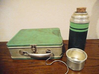 Vintage Child's Lunchbox With Matching Thermos