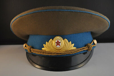 Russian Ussr  Military Enlisted Hat With Enamel Emblum