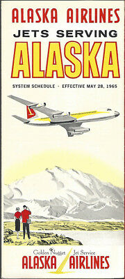 Alaska Airlines system timetable 5/28/65