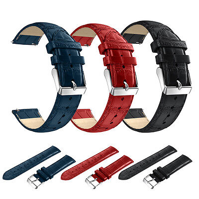 For Samsung Gear S3 Frontier / Classic 22mm PU Leather Bracelet Strap Watch Band