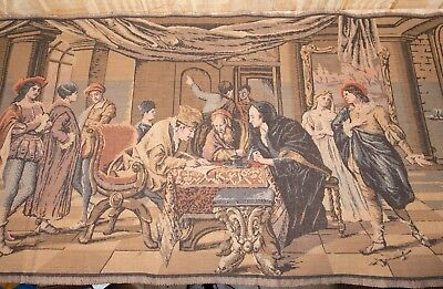 """Antique French Tapestry 55"""" x 20"""""""