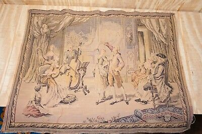 """Antique French Tapestry 25"""" x 20"""""""