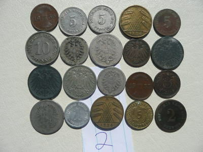 Lot of 20 Empire and Weimar Germany Coins - Lot 2