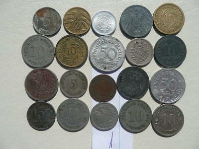 Lot of 20 Empire and Weimar Germany Coins - Lot 1