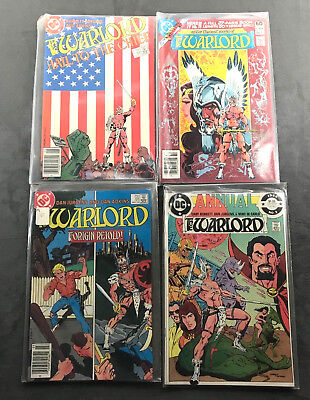 The Warlord DC Comics Lot of 4 Vintage 1981-1985 Books In Protective Sleeves