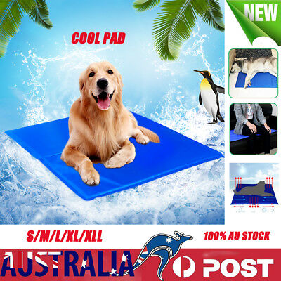 AU Summer Bed Pad Dog Cat Cool Bed Gel Mat Non-Toxic Cooling  Large XXL 5 SIZE