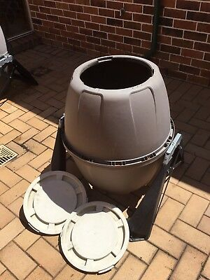 Compost Bin, Rolling, Quantity One. Used, Cleaned, Sound.