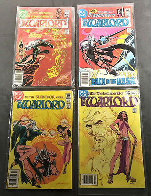 The Warlord DC Comics Lot of 4 Books In Protective Sleeves Dragonsword c 1981