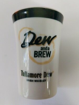 "Beautiful Tullamore Dew Irish Whiskey ""Dew and a Brew"" Ceramic Shot Glass."