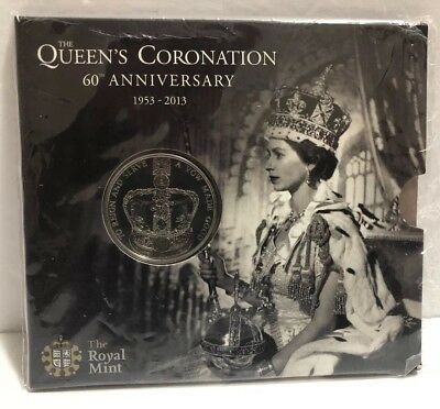 Queen's Coronation 60th Anniversary £5 Coin Royal Mint UK Brilliant Uncirculated