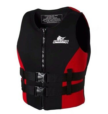 2018 New Neoprene Impact Vest Life Jacket Surf Swimming Jet Ski Wakeboard Vest