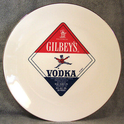 Regal China Plate ~ Gilbey's Vodka ~ 8-1/2""