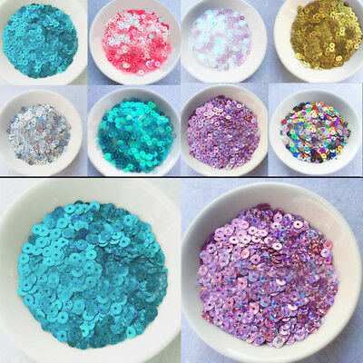 4000pcs 4mm Round Loose Sequins Paillettes sewing Wedding Craft Clothes DIY