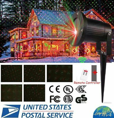 LOT Red/Green Laser Fairy Light Projection Projector Christmas Outdoor Landscape