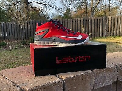 more photos 6b8e1 932df Nike Lebron 11 XI Low Independence Day Size 9.5 July 4 Red Basketball  Supreme