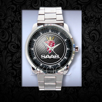 614 Saab logo Design Sport Metal Watch