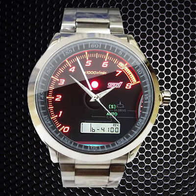 New! Subaru Impreza WRX STi Speedometer SPORT  Design Sport Metal Watch