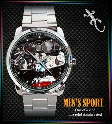 Suzuki Hayabusa Speedometer Motorcycle Mens  Design Sport Metal Watch
